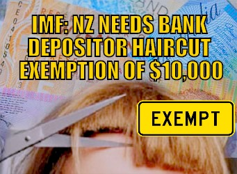 Bank depositor haircut exemption