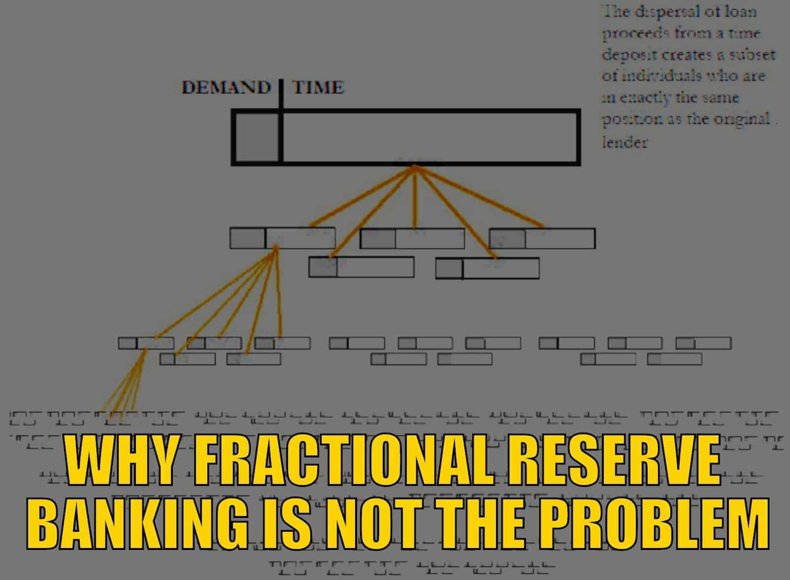 Why Fractional Reserve Banking is Not the Problem