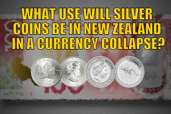 Silver Coins in a currency collapse