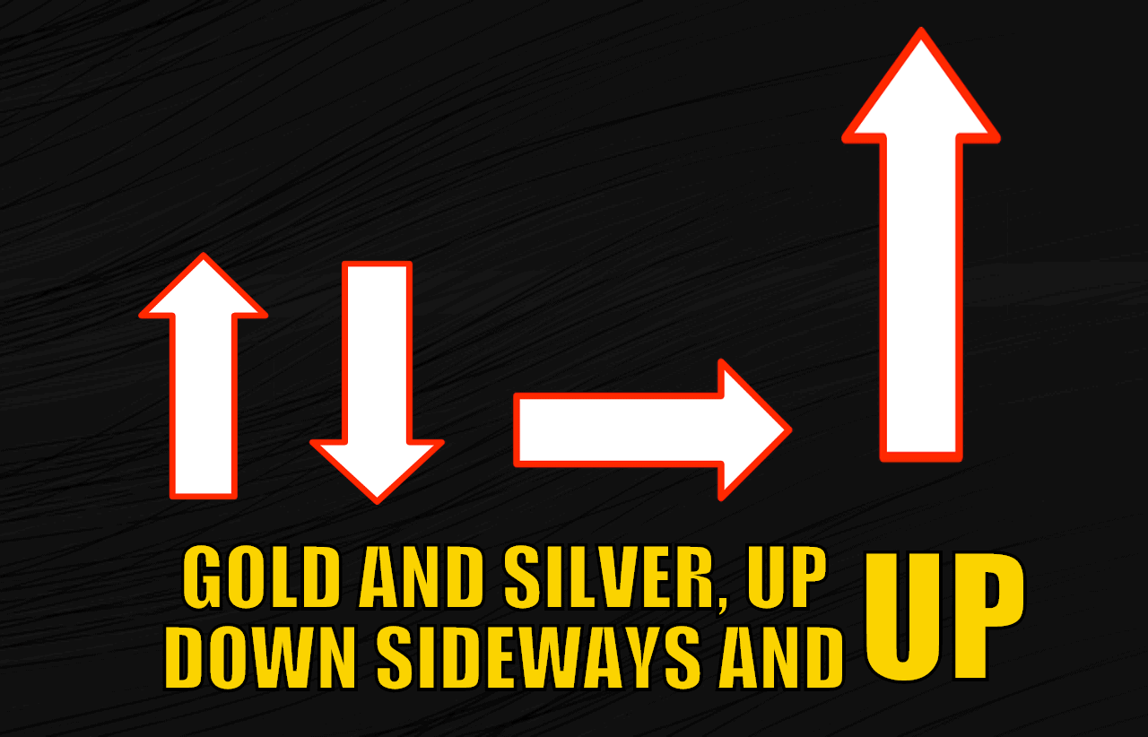 Gold and Silver, Up Down, Sideways and UP
