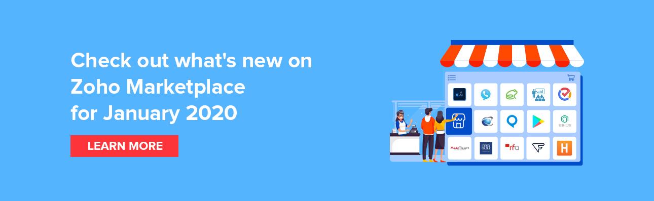 New on Zoho Marketplace for Janaury 2020