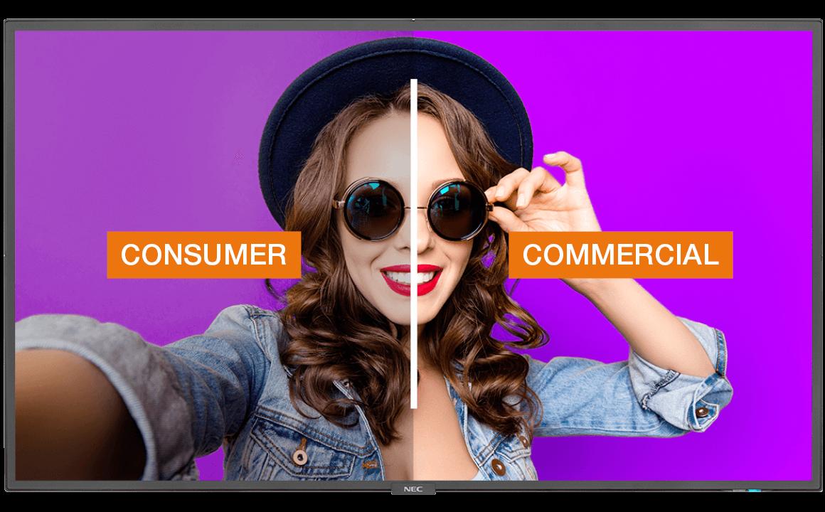 Consumer vs Consumer Displays