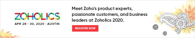 Zoholics Registration