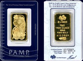 1oz Pamp gold bar