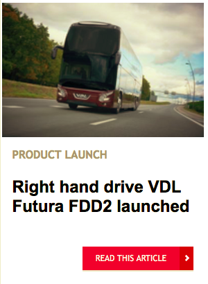 Right hand drive VDL Futura FDD2 launched