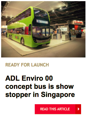ADL Enviro 00 concept bus is show stopper in Singapore