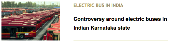 Controversy around electric buses in Indian Karnataka state