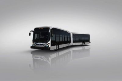 BYD articulated electric bus