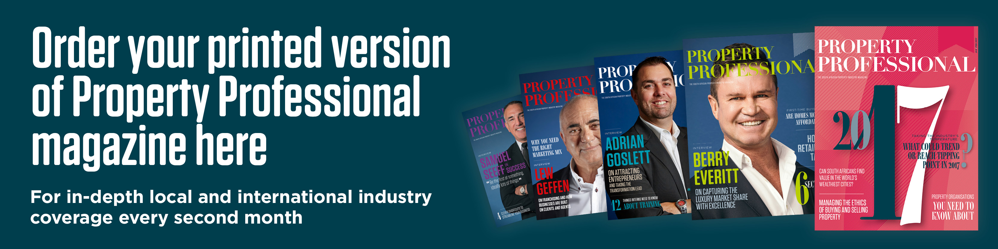 Subscribe to Property Professional magazine