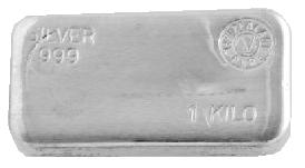 1 Kilo NZ Silver Bar