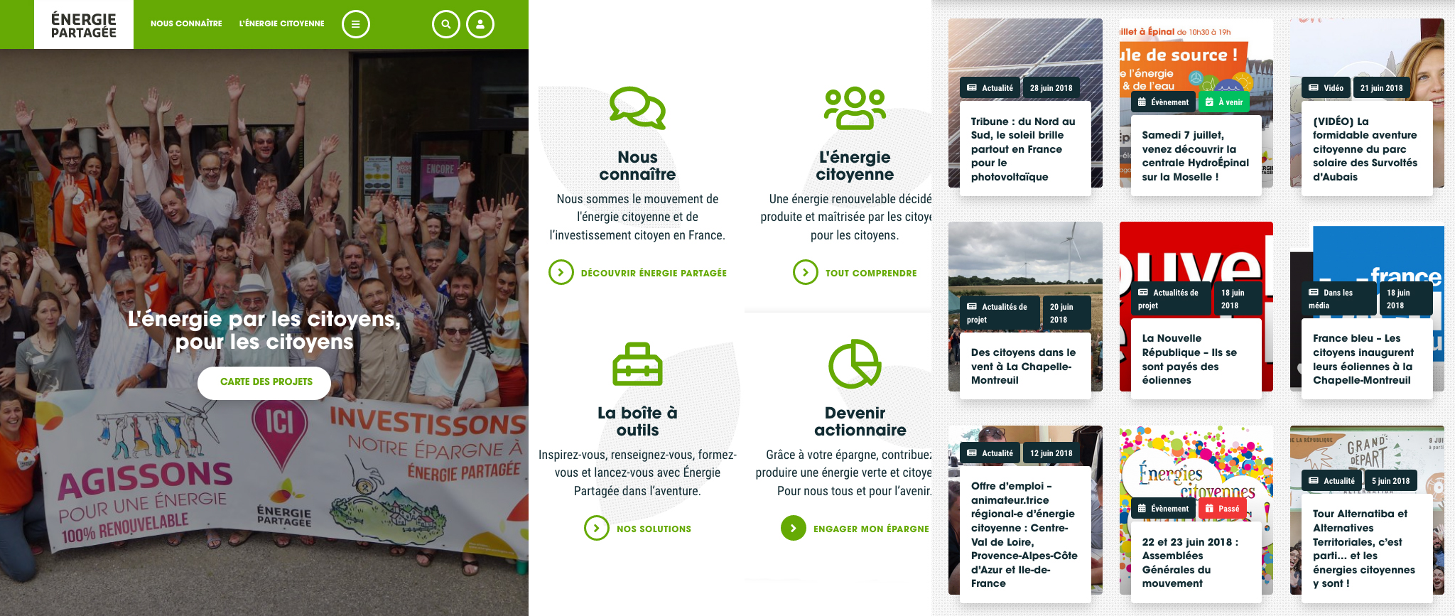 Le site web d'Énergie Partagée fait peau neuve !