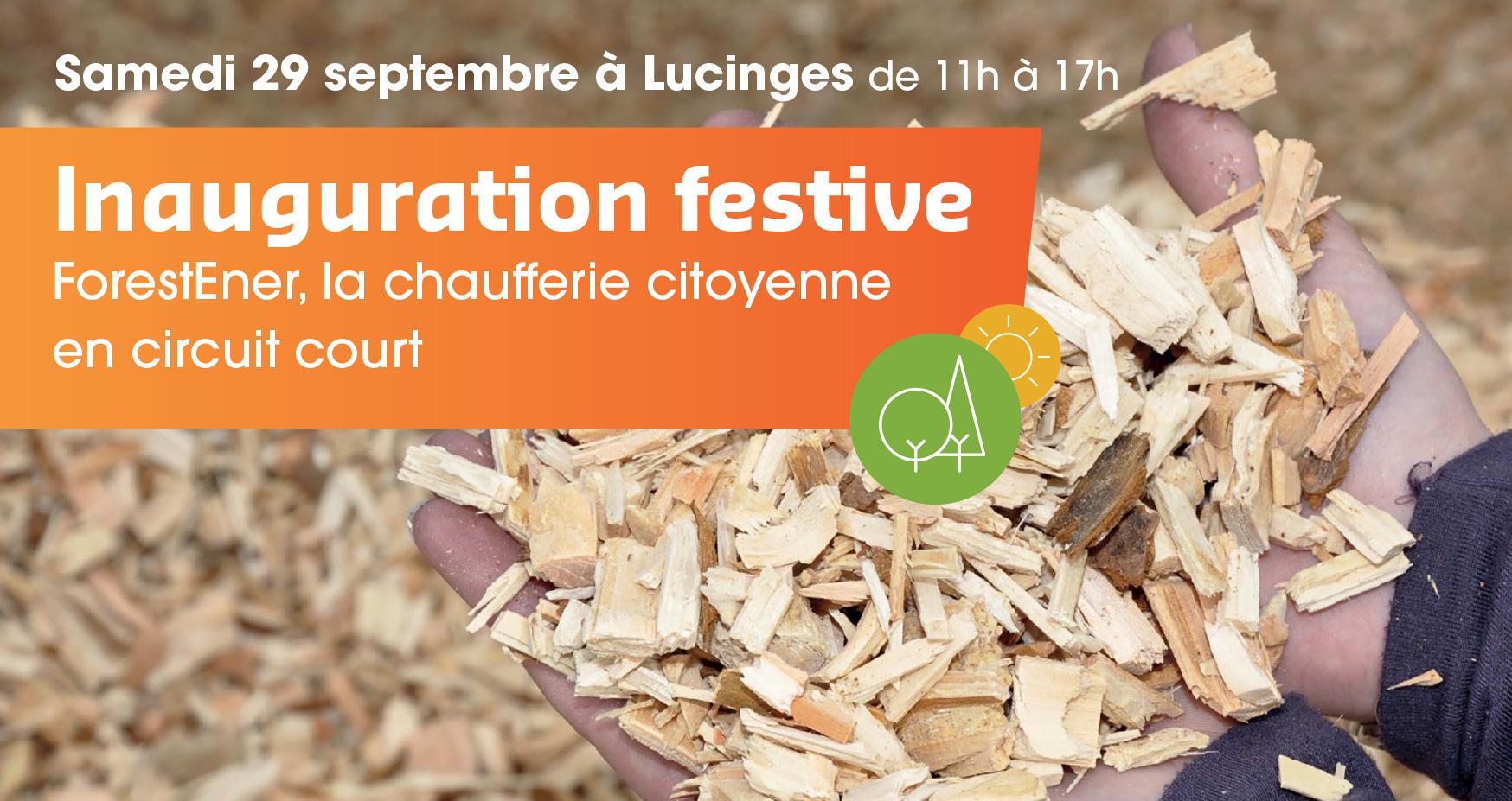 Samedi 29 septembre à Lucinges, inauguration festive de la chaufferie citoyenne ForestEner et du réseau de chaleur communal