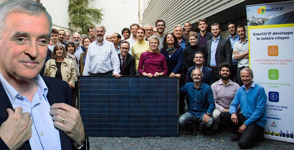 La coopérative EnerCit'IF, fondée le 24 septembre 2018, est parrainnée par Jean Jouzel