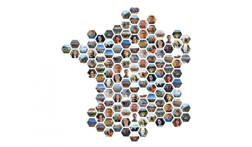 Les projets d'énergie citoyenne en France - La carte des réseaux régionaux et des projets