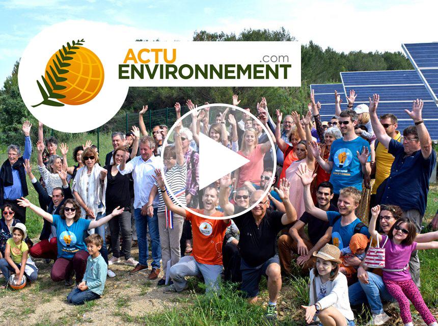 ActuEnvironnement consacre un reportage vidéo aux projets d'énergie citoyenne en Occitanie