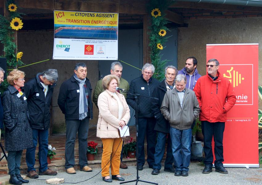 Inauguration de la 1e toiture solaire citoyenne d'Enercit