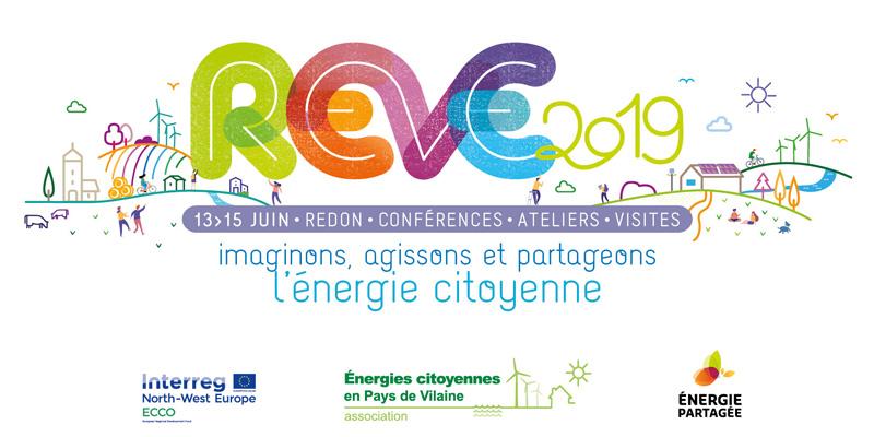 REVE 2019 Rencontres européennes de l'énergie citoyenne, du 13 au 15 juin