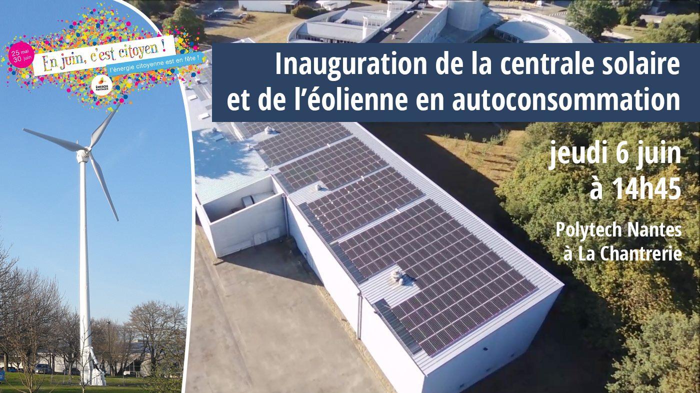 Jeudi 6 juin : inauguration de la toiture photovoltaique sur la halle d'essais de Polytech Nantes à La Chantrerie
