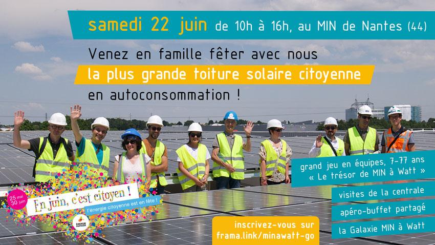 Inauguration de la toiture photovoltaïque citoyenne de MIN à Watt samedi 22juin