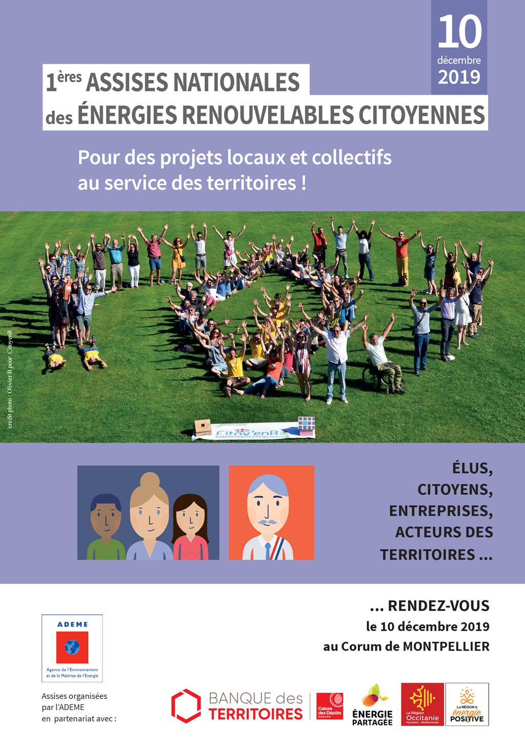 Les premières Assises des énergies renouvelables citoyennes auront lieu le 10 décembre à Montpellier