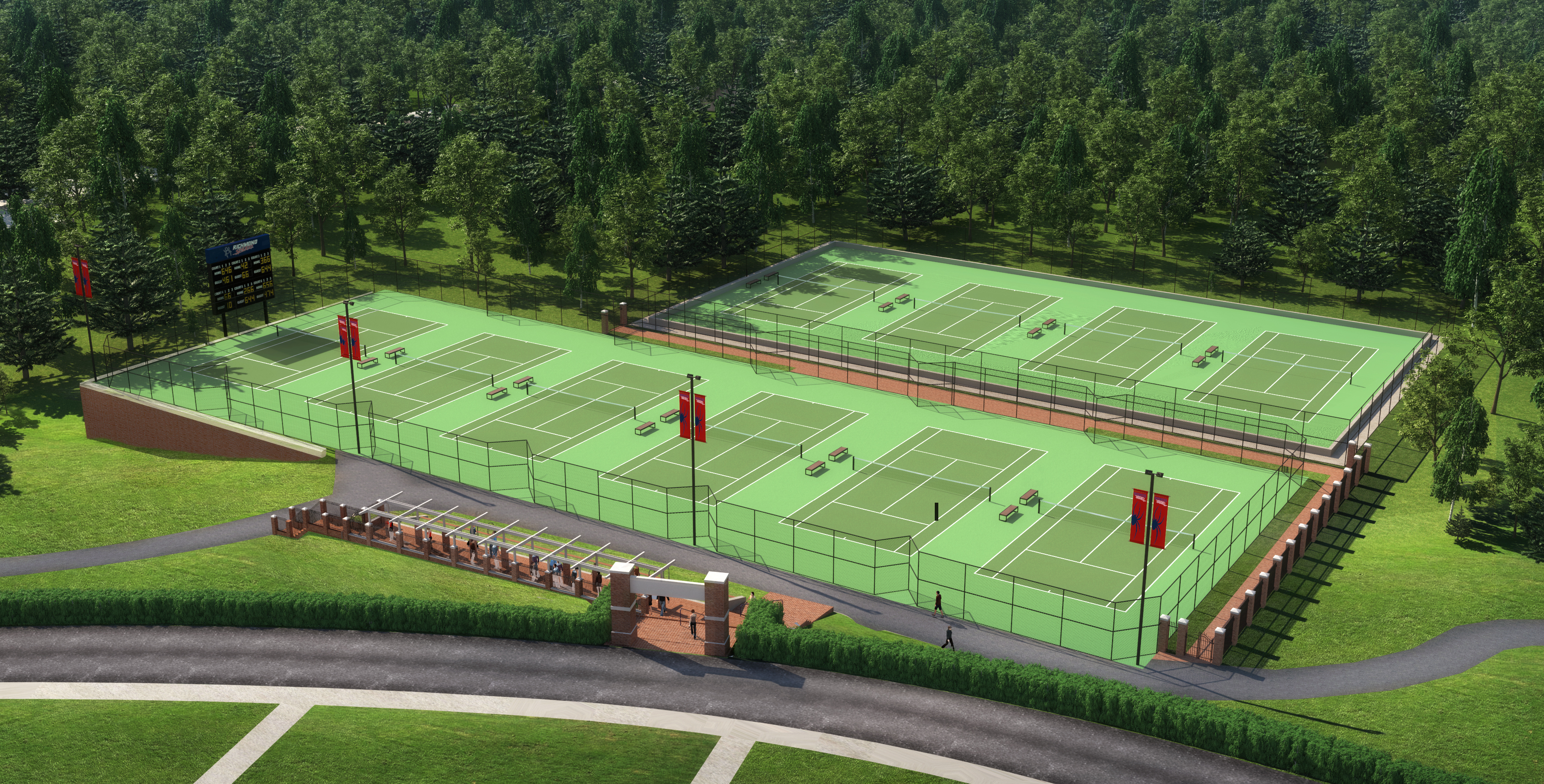 Tennis plex Currently being Renovated