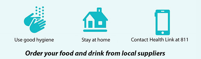 order your food and drink from local suppliers