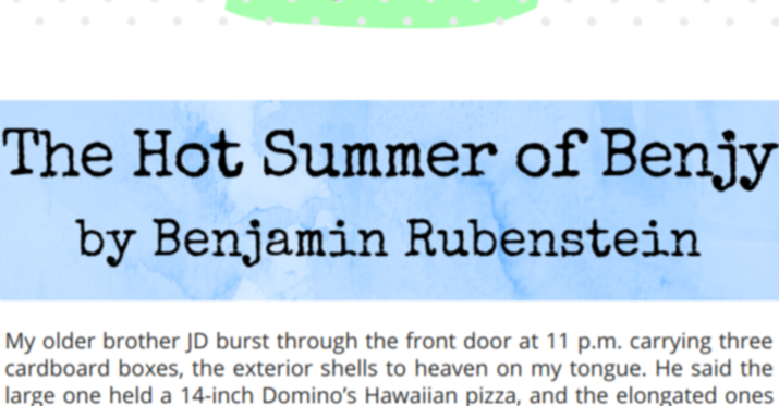 The Hot Summer of Benjy story