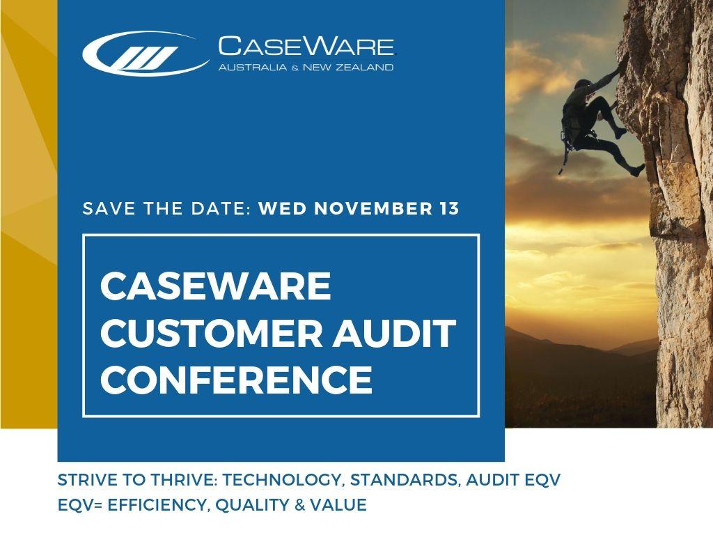 CaseWare Customer Conference Audit