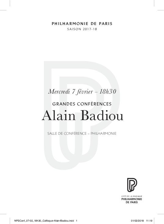 Alain Badiou, la fuite de l'oeuvre
