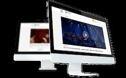 Philharmonie à la demande sur écrans d'ordinateu
