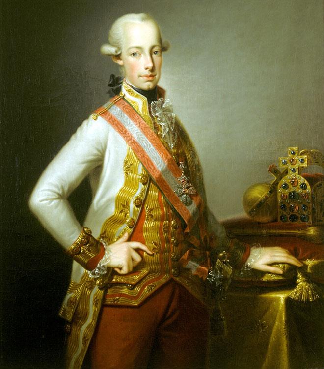 Portrait de François II, peinture de Johann Baptist von Lampi, après 1792. Galerie Morave de Brno