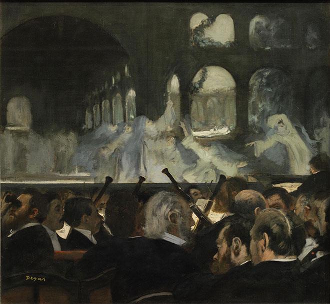 Ballet des nonnes dans Robert le diable de Meyerbeer, peinture de Edgar Degas, 1876. Victoria and Albert Museum