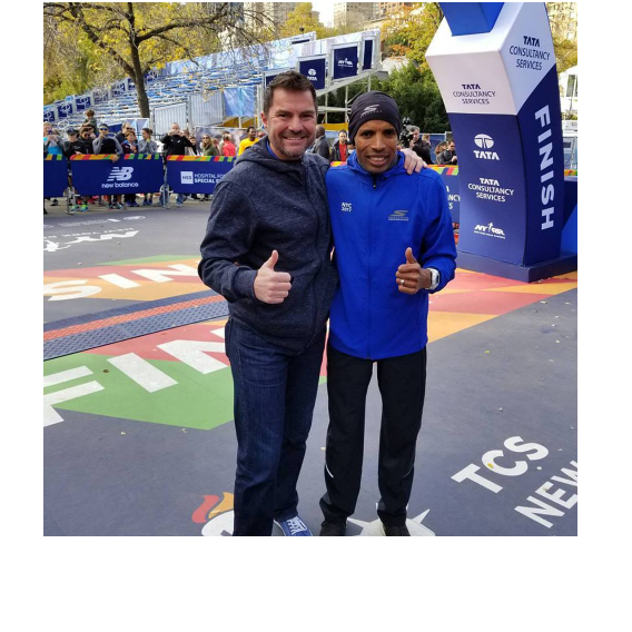 Dr. Young and Meb at NYC Marathon