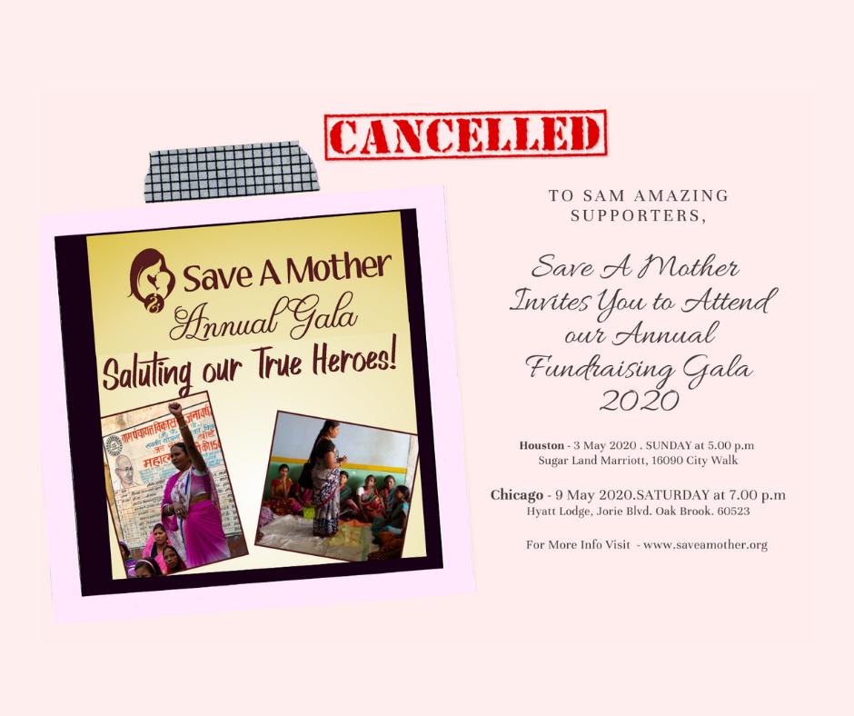 SAM Gala 2020 Cancelled
