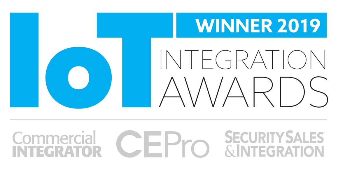 IoT Integration Award Logo Blue