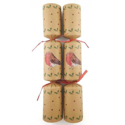 X00014 10 inch Paper Red Robbin Christmas Bon Bon