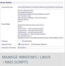 manage Windows / Linux / NMS scripts
