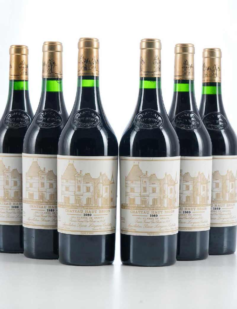Lot 1: 6 bottles 1989 Château Haut Brion