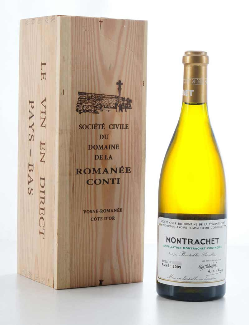 Lot 140: 1 bottle 2009 DRC Montrachet in OWC
