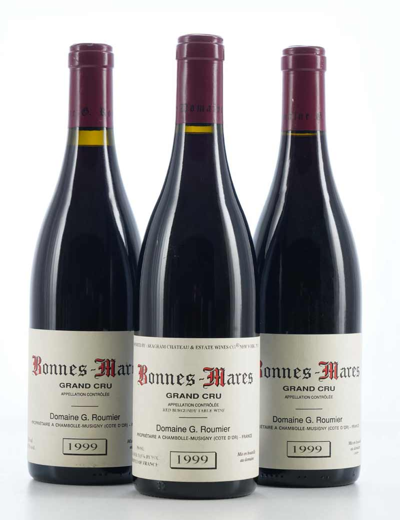 Lot 316: 3 bottles 1999 G. Roumier Bonnes Mares