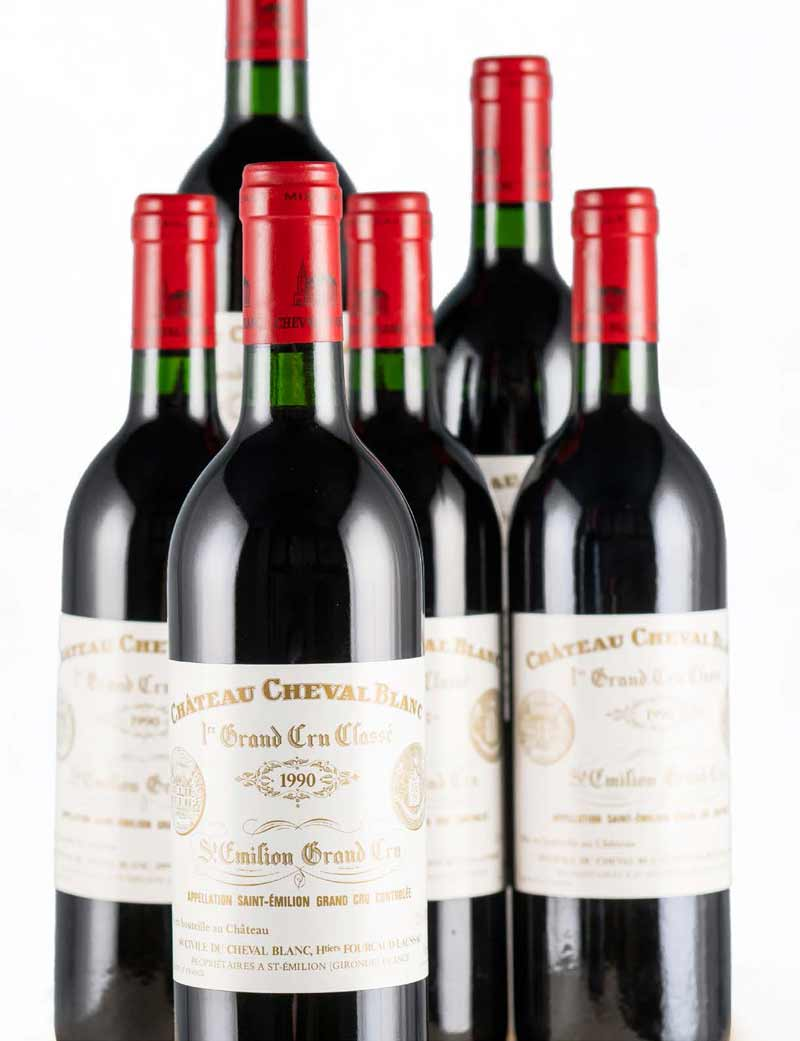 Lots 369-370: parcels of 12 bottles 1990 Chateau Cheval Blanc