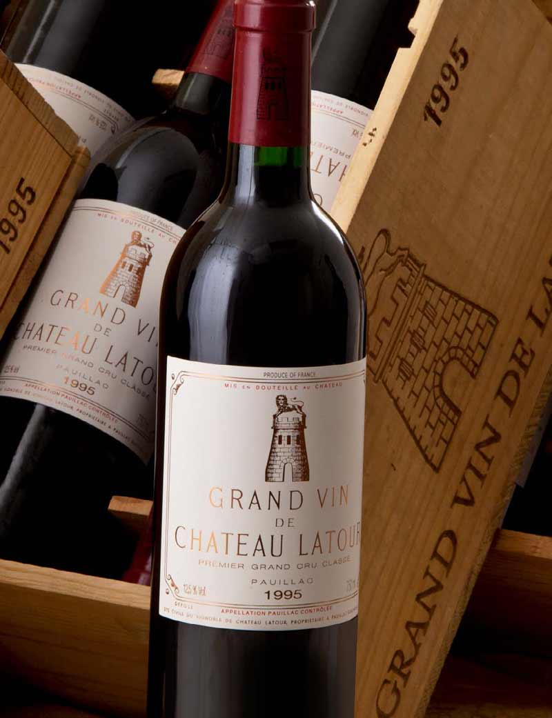 Lots 400-409: parcels of 12 bottles 1995 Château Latour in OWC