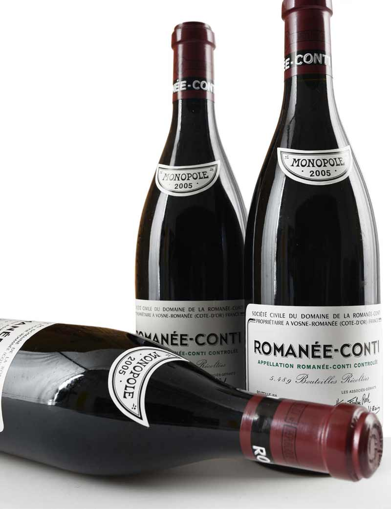 Lots 445-446: parcels of 3 bottles 2005 DRC Romanee Conti
