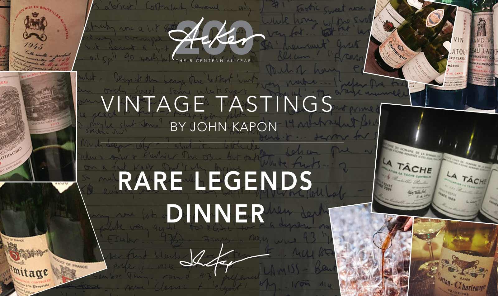 Rare Legends Dinner