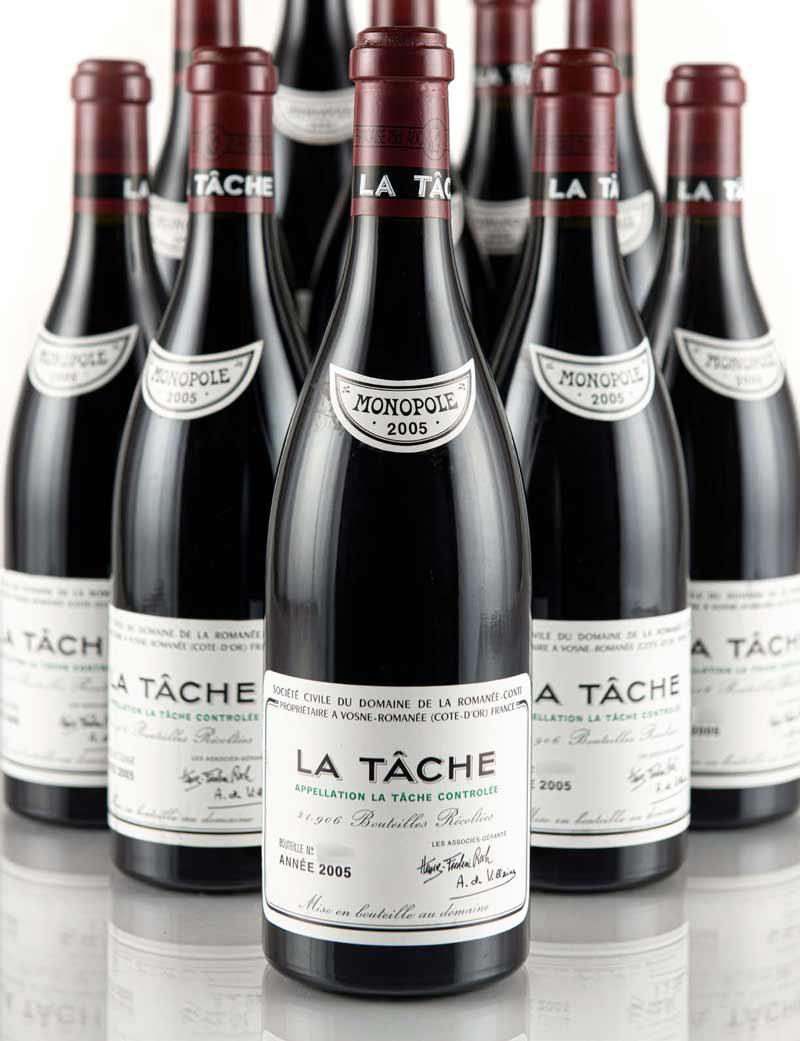 Lot 441-443: parcel lots of 6 bottles 2005 DRC La Tache