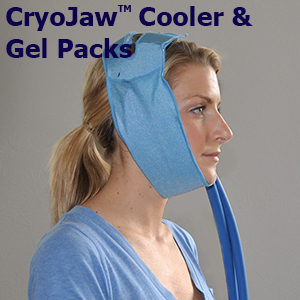 Woman with Cryojaw wrap