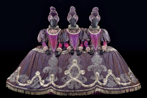 Costumes en fête, Les Parques, 40 ans des Arts Florissants. Cité de la Musique - Philharmonie de Paris, photographie de Florent Giffard