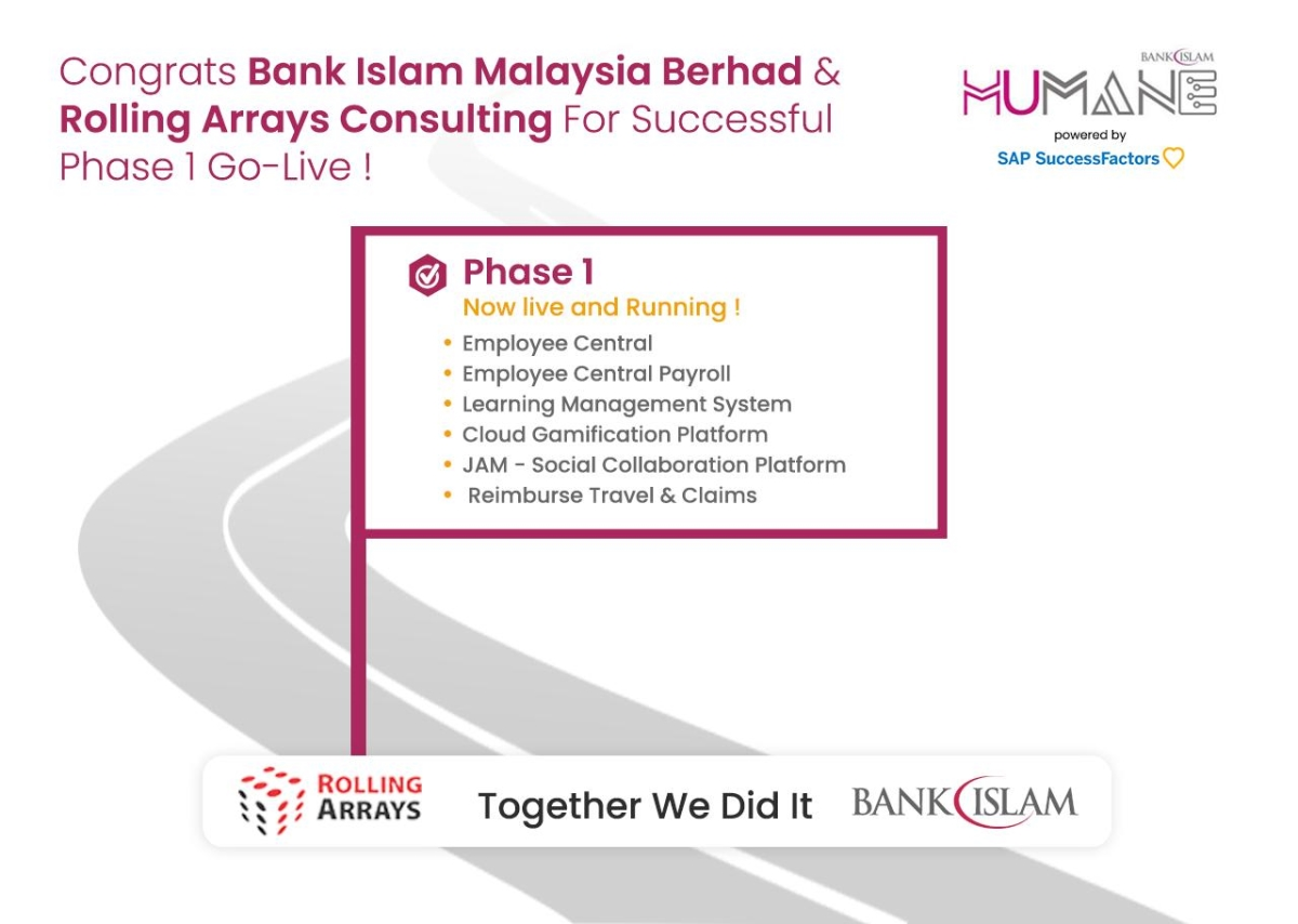 Bank Islam ,Rolling Arrays Consulting and SAP SuccessFactors Phase 1 Go live