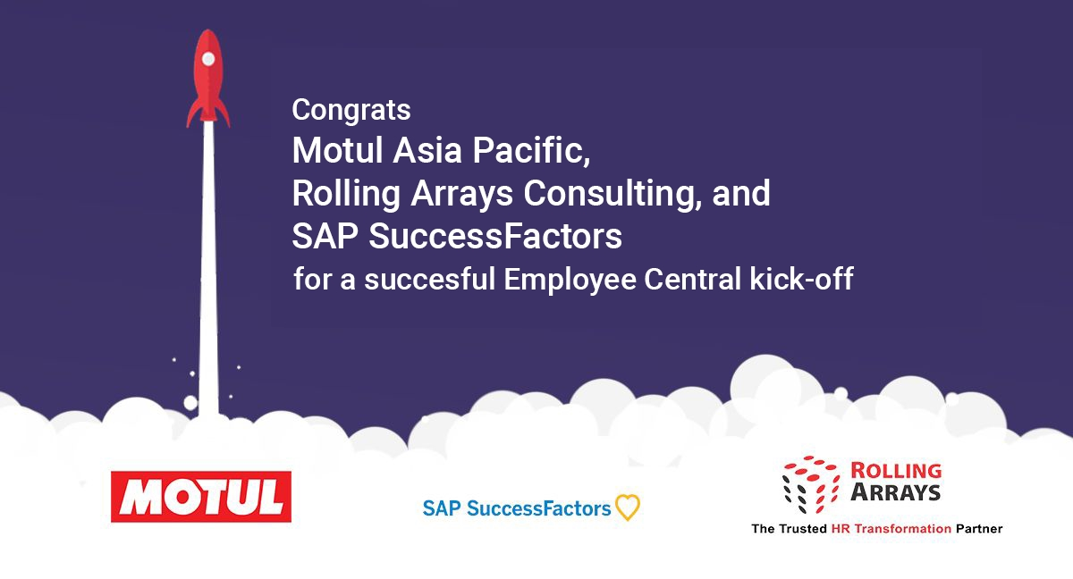 Motul Asia Pacific ,Rolling Arrays and SAP SuccessFactors  kick-off