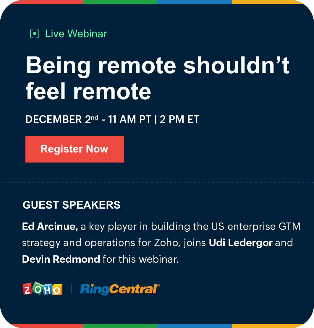 RingCentral webinar Being remote shouldn't feel remote